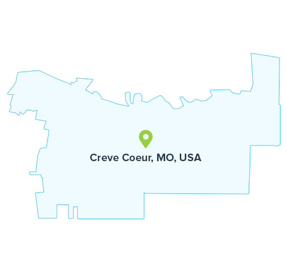 Creve-Coeur,-MO,-USA-map