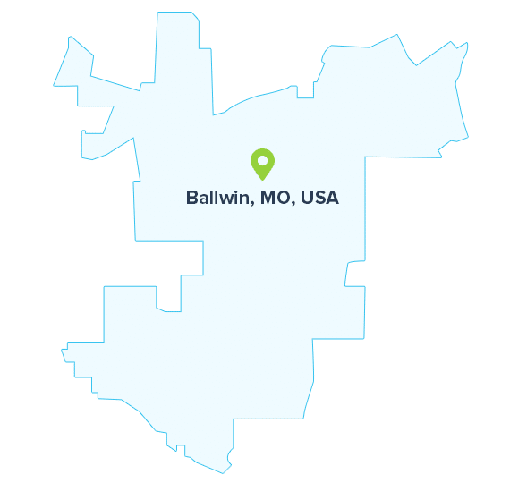 Ballwin-map