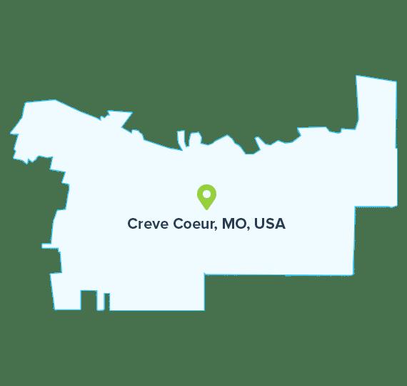 Creve-Coeur-MO-USA-map
